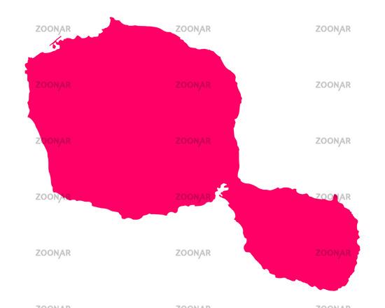 Foto Karte von Tahiti - Map of Tahiti Bild #11871217