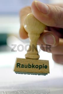 Raubkopie - Stempel, Symbolbild