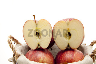 Apfel halbiert