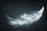 Abstract design of white powder snow cloud