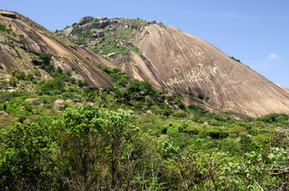 Sibebe Granitfelsen bei Mbabane
