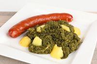 Gürnkohl mit Kartoffeln und Wurst