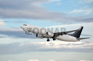 Commercial Plane Taking Off