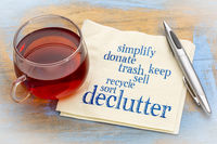 declutter and simplify word cloud on napkin