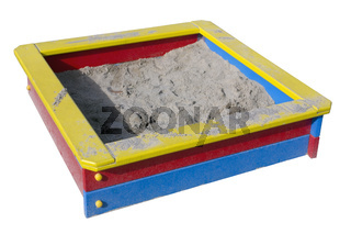 Children wooden sand box
