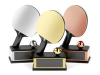 Table tennis trophies
