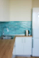 Interior view modern kitchen interior house