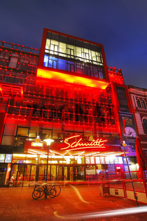 Schmidt Theater mit Reataurant auf der Reeperbahn, St Pauli, Hamburg, Deutschland, Schmidt Theatre and Restaurant at Reeperbahn, St Pauli, Hamburg, Germany