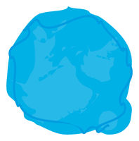 a blue blob circle background