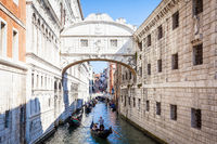 VENICE, ITALY - June 27, 2016: Bridge of Sighs