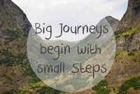 Valley And Mountain, Norway, Quote Big Journeys Begin Small Steps