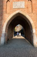 Archway onto Mariacka street in old town Gdansk Poland