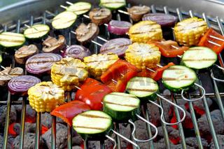 Vegan grillen mit Gemüse