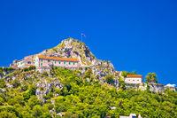 Old town Knin on rock peak