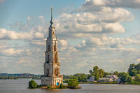 Flooded belfry in Kalyazin, Russia