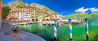 Limone sul Garda turquoise harbor panoramic view