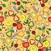 Seamless food ingredients pattern