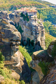Landscape with The Varlaam monastery in the Meteora