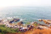 Travel photo of sea view from the coast