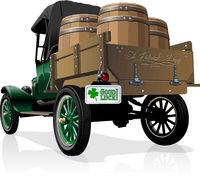 Vector Saint Patrick's vintage beer truck