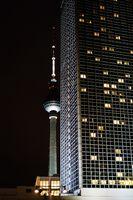 Fernsehturm nachts