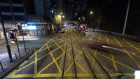 Street in night Hong Kong