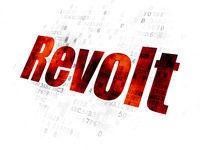 Politics concept: Revolt on Digital background