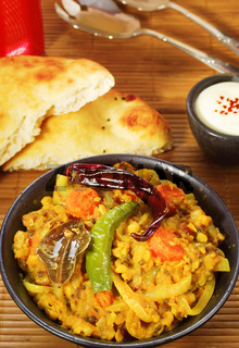 Indian Dahl with Naan Bread
