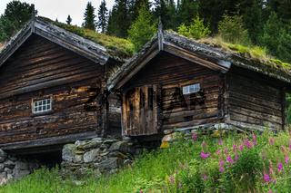 Traditionelles Holzhaus in Norwegen