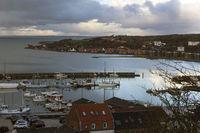 Morning view of Lemvig harbor