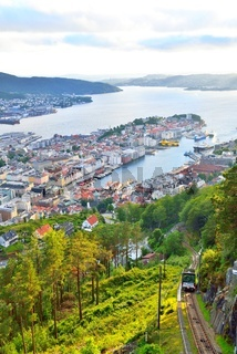 Bergen view from Floyen