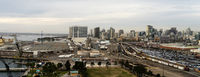 Railyards Docks Port of San Diego Califonia Downtown City Skyline