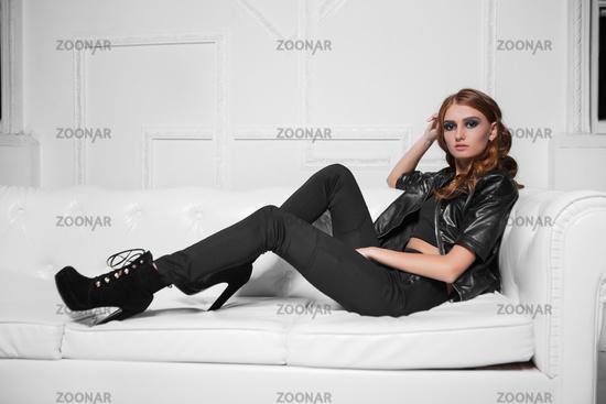 Beautiful young model