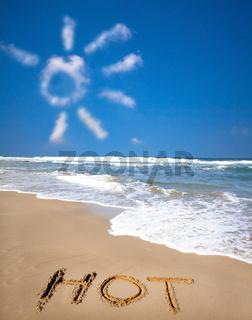sunlight cloud and hot on beach