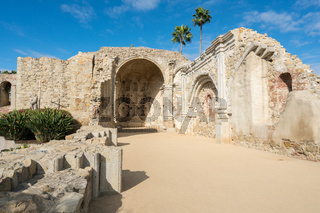 Ruins of old church in San Juan Capistrano mission