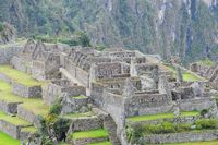 Teil von Machu Picchu Stadt Peru