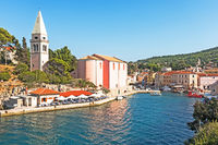 Stadtbild von Veli Losinj, Kroatien