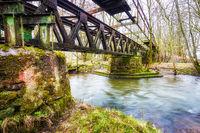 Old railway bridge of the Primstalbahn near Waldern