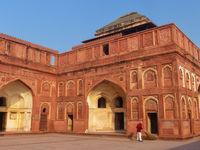 Interior courtyard of Jahangiri Mahal in Agra Fort, Uttar Pradesh, India