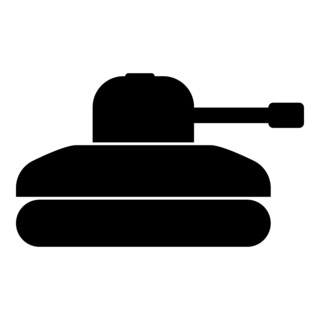 Tank icon black color illustration flat style simple image