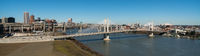 Panoramic View Portland Bridge Willamette River Mount St Helens