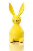 yellow easter bunny figure