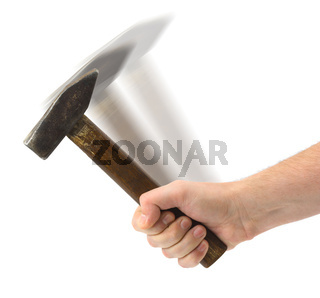 Hand with hammer