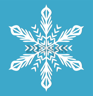 Snowflake.  icon flat style.  design elements. Vector illustration