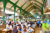 People indoor food court. Singapore