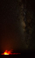 Kilauea und Milchstraße