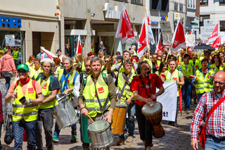 Verdi Demostration in Wiesbaden am 13. Mai 2017.
