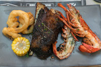 Surf and Turf lobster and beef