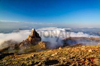 Panorama of Schalbus-Dag mountain, Dagestan Caucasus Russia