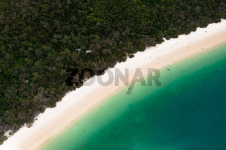 Scenic flight over Whitehaven Beach, Whitsunday Islands
